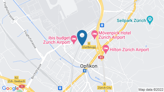 Dorint Airport-Hotel Zürich Map