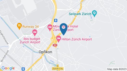 Apart-Hotel Zurich Airport Map