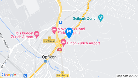 Apart-Hotel Zurich Airport Map