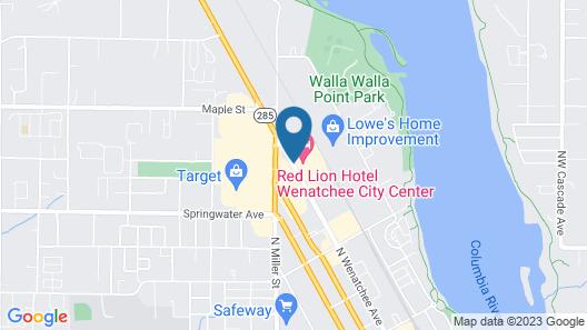 Red Lion Hotel Wenatchee City Center Map