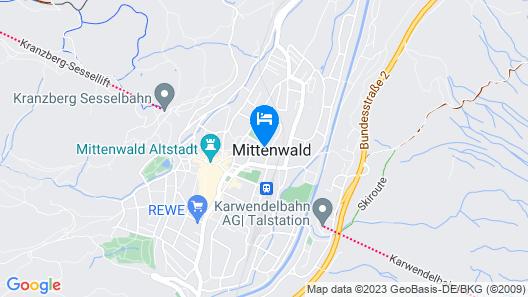Ferienapartmenthaus Hubertushof Map