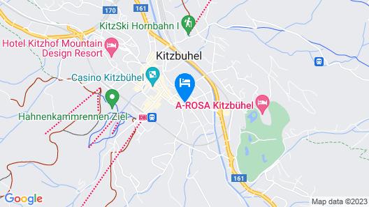 Hotel Schwarzer Adler Kitzbühel Map