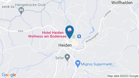 Hotel Heiden - Wellness am Bodensee Map
