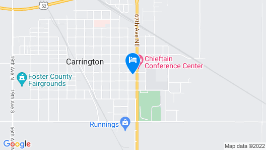 Carrington Inn & Suites Map