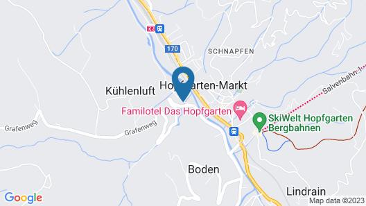 Appealing Chalet in Hopfgarten in Brixental Near Ski Slopes Map