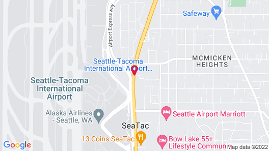 Seatac Inn and Airport Parking Map