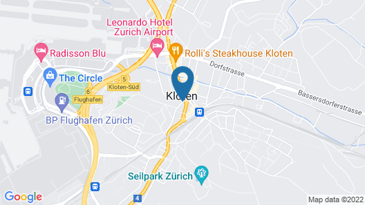 Hotel Welcome Inn Zurich Airport Map