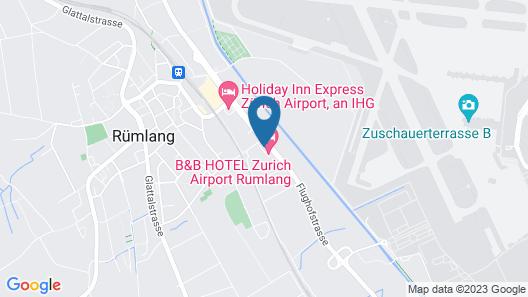 B&B Hotel Zürich Airport Rümlang Map