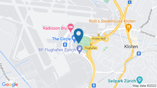 Hyatt Regency Zurich Airport The Circle Map