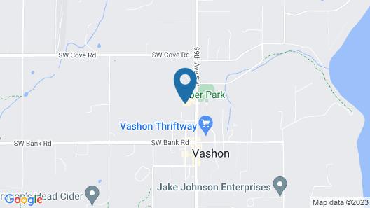 Lodges on Vashon Map