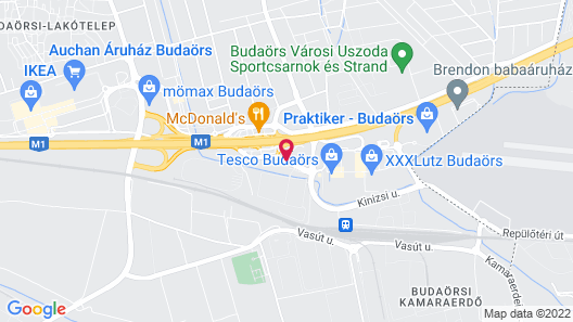 Holiday Inn Budapest-Budaörs Map