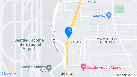 Red Roof Inn Seattle Airport - SEATAC Map