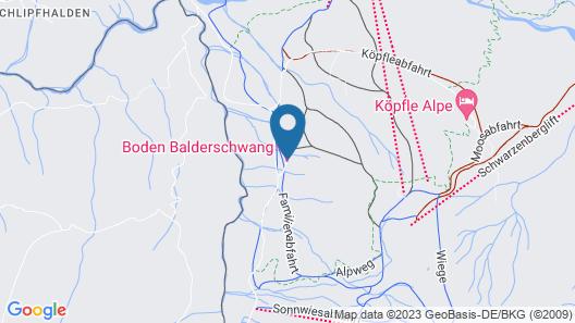 Alphotel Boden Balderschwang Map
