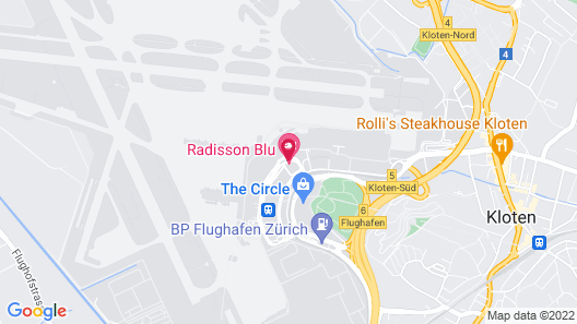 Radisson Blu Hotel Zurich Airport Map
