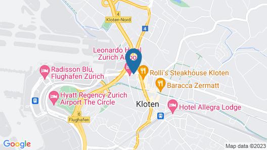 Leonardo Hotel Zurich Airport Map