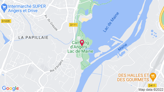 Camping d'Angers Map