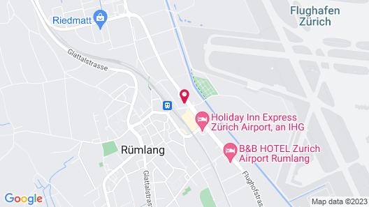 JET HOTEL ZURICH AIRPORT Map