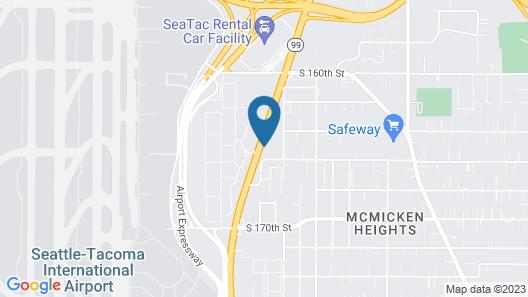 Motel 6 Seattle, WA - Airport Map