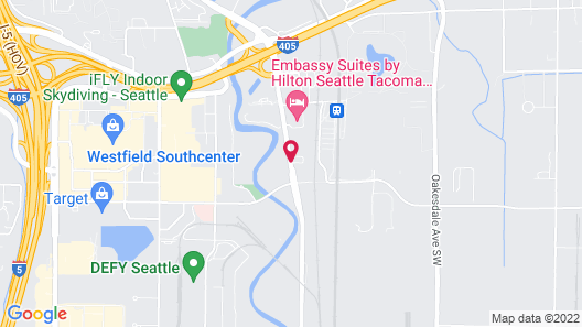 Courtyard by Marriott Seattle Sea-Tac Area Map