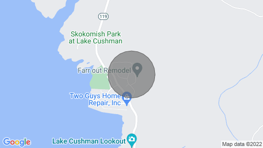 Lake Cushman Cabin With Private Access to Lake & Park Map