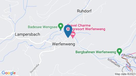 Travel Charme Bergresort Werfenweng Map