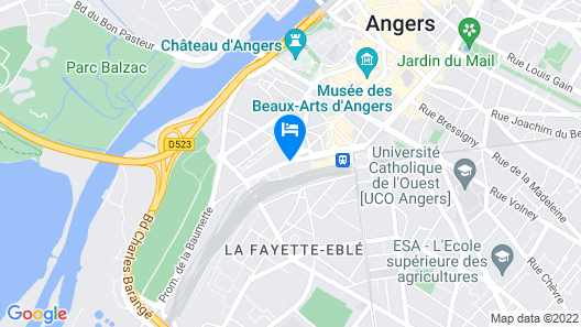 Novotel Angers Centre Gare Map
