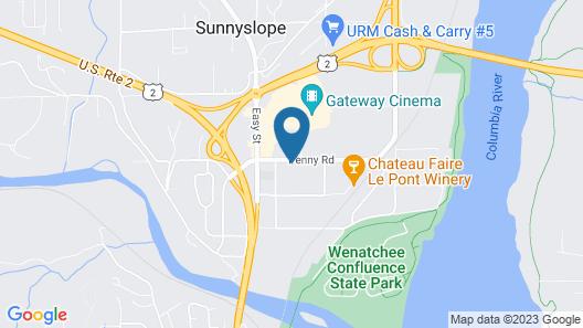 Comfort Suites Wenatchee Gateway Map