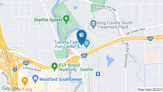 Comfort Suites Airport Tukwila Seattle Map
