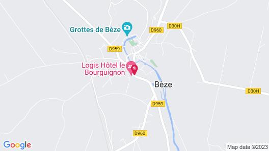 Hôtel Restaurant Le Bourguignon Map