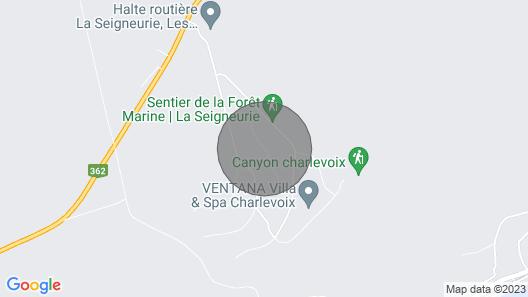 Le Point de Vue SPA by Chalets Baie Saint Paul Map