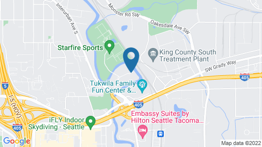 Homewood Suites by Hilton Seattle-Tacoma Airport/Tukwila Map