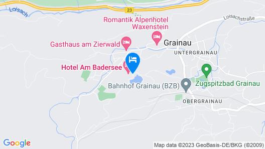 Hotel am Badersee Map
