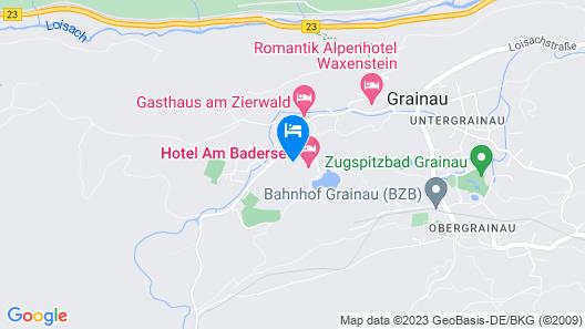 Ferienhaus Badersee Map