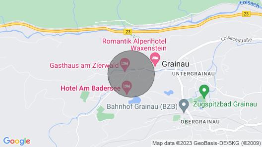 Ferienwohnung Zwölferkante - Herrliche Ferienwohnung mit Zugspitzblick Map