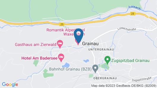 Romantik Alpenhotel Waxenstein Map