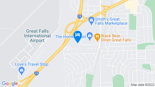 Comfort Inn & Suites Market - Airport Map