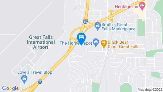 Holiday Inn Express Hotel & Suites Great Falls, an IHG Hotel Map