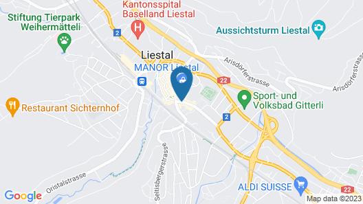 Hotel Engel Liestal Map