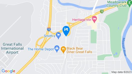 Hampton Inn Great Falls Map