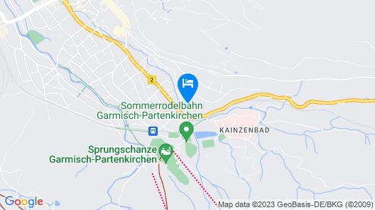 Dorint Sporthotel Garmisch-Partenkirchen Map