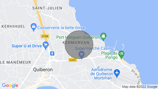 House of sinner LA MARIE MORGANE in QUIBERON Map