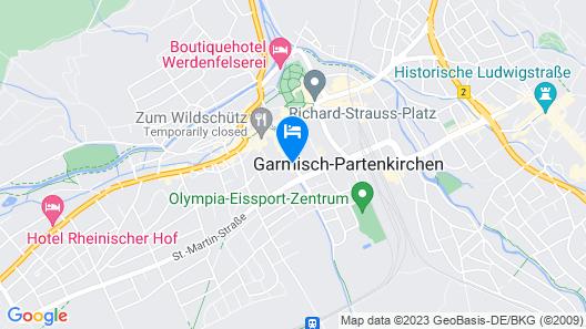 Hotel Zugspitze Map