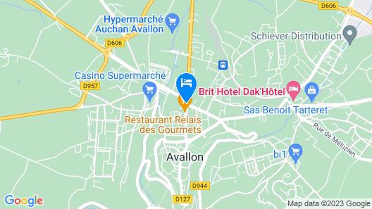 Citotel Avallon Vauban Map