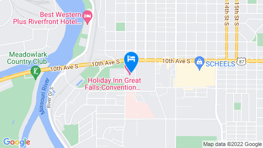 Holiday Inn Great Falls- Convention Center, an IHG Hotel Map