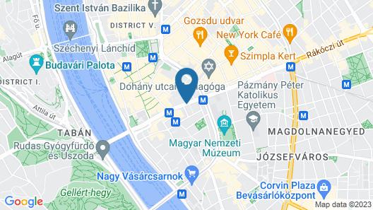 Eurostars Budapest Center Map