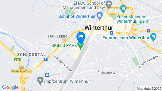 Depot 195 - Hostel Winterthur Map