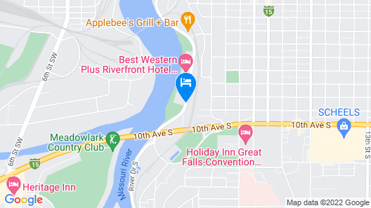 Extended Stay America Great Falls - Missouri River Map