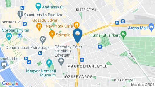 Courtyard by Marriott Budapest City Center Map