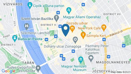 ARCadia Hotel Budapest Map