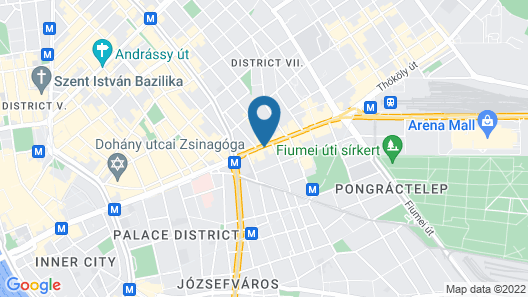 Esprit Hotel Budapest Map